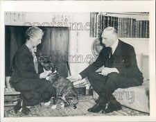 1940 Earl of Athlone Alexander Cambridge With Wife Alice & Dog Press Photo