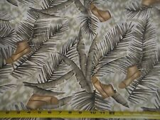 Palm Trees Banana Leaves Tropical Boot Shoe Silky Dressy  Polyester Fabric