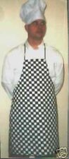 CHEQUERED APRON & CHEFS HAT ADULTS COOK BBQ NEW