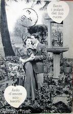 1941 Donnine donnina DONNA/UOMO INNAMORATI in giardino ed.Cecami viaggiata 4E5