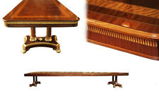 Large Mahogany Dining Room Table, Regency, Transitional & American | 54 wide