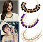 Women New Fashion Alloy Pendant Chain Choker Chunky Statement Bib Necklace Free