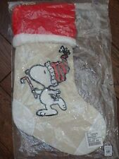 POTTERY BARN TEEN KIDS PEANUTS SNOOPY CHRISTMAS STOCKING NEW CHARLIE BROWN