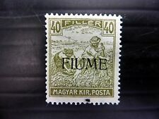 HUNGARY FIUME 1918 - 40f SG12 U/M with Perf Hole at Bottom Cat £110 FP9295