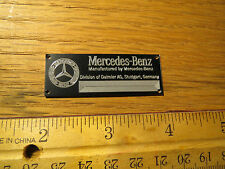 Mercedes Metal Display Plaque CMC Models & Diecast 1/12 1/16 1/24 1/18 1/43 1/87