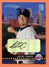 Jesse Crain RC Auto 2004 Studio Private Signings Gold Rookie Autograph SP/10
