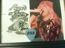 BRET MICHAELS POISON  Autographed Signed framed 3×5 photo + VIP pass guitar pick