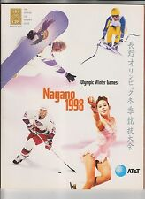 NAGANO 1998 - OFFICIAL CBS VIEWER'S GUIDE - OLYMPIC WINTER GAMES - AT&T