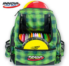 INNOVA HEROPACK BACK PACK DISC GOLF BAG (HOLDS 25 DISCS) GREEN-PLAID w/HEADER