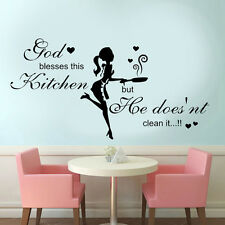 Large Kitchen/dining room Wall Art Vinyl Transfer Sticker/Decal Quote #