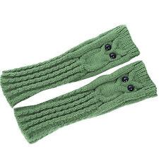 Fashion Knitted Arm Owl Fingerless Winter Gloves Soft Warm Mitten