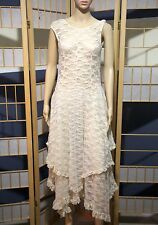 Intimately by Free People Tea Sheer French Courtship Lace Dress Slip Sz M New!