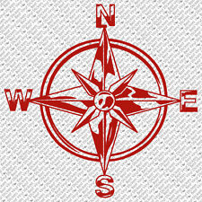 TRIBAL COMPASS ROSE NAUTICAL STAR CAR BOAT BIKE WINDOW VINYL DECAL STICKER (C-1)