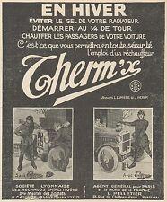 Z8759 THERM'X chauffer les passagers de votre voiture - Pubblicità - 1925 Old ad