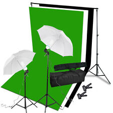 Photography Background Support White/Black/Green Screen Lighting Stand Kit UK