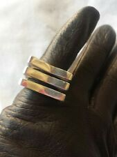 MODERNIST DESIGN  RING STERLING SILVER  ANELLO ARGENTO 925 VINTAGE anni 1970