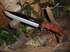 "Survivor/Knife/Bowie/Blade/Survival/Full tang/Heavy duty/5MM/440 SS/Zombie/15""OA"