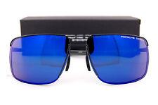 New Porsche Design Sunglasses P8615 8615 A Black/Blue Mirrored Men Women SZ 67