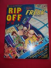 "COLLECTORS ITEM "" RIP OFF NO.12 COMIC WITH FABULOUS FURRY FREAK BROTHERS "" 1983"