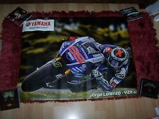 Affiche officielle double face / Showroom poster YAMAHA  Rossi / Lorenzo 2015 //