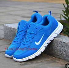 MENS AND BOYS, SPORTS TRAINERS RUNNING GYM SIZES White Blue UK8=EUR42