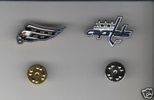 WASHINGTON CAPITALS Lot of 2 Different METAL LAPEL PINS NHL Hockey Team Logo Pin
