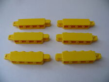 Lego 6 briques charniere jaune set 7633 7936 4888 4667 / 6 yellow locking hinge