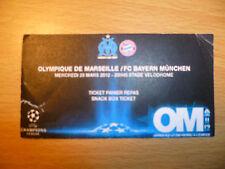 UEFA Champions Leg TICKET-OLYMPIQUE DE MARSEILLE v FC BAYERN MUNCHEN,28/3/2012