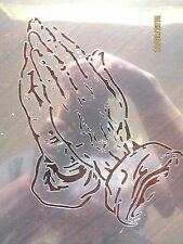 Praying Hands Stencil for Airbrush, Crafting, Art Work, etc.