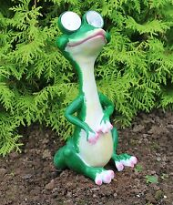 Solar Powered Decorative Garden Ornament Animal  Light Up Alligator/Lizard Green