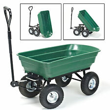 75L Heavy Duty Garden TROLLEY CARRELLO RIBALTABILE discarica rimorchio discarica CARRIOLA CAMION