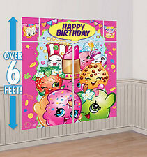 SHOPKINS Scene Setter HAPPY BIRTHDAY party wall PHOTO BACKDROP grocery LIPPY LIP