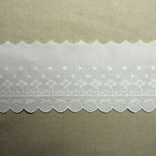 Cotton Eyelet Lace Trim  White  4.8 Inch(12cm) Wide 3Yards
