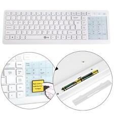 White Wireless Keyboard with Mouse Touchpad for Windows PC Laptop Notebook G8NF