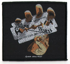 Judas Priest Sew-on Music Patch: British Steel  - Rock Music Heavy Metal New