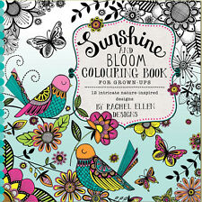 Rachel Ellen Sunshine and Bloom Colouring Book for Grown-Ups - Great gift idea