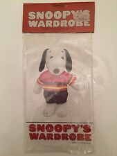1965 VINTAGE RETIRED SNOOPY OUTFIT Bicycle cyclist SUIT 4374 collectors  peanuts