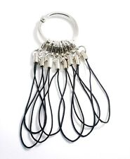 Flash Drive Cell Phone Cords/Binder Ring 1 in. Mixed Materials Black GB New