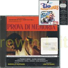 PROVA DI MEMORIA RARO CD OST - REGIA MARCELLO ALIPRANDI MUSICHE LINO PATRUNO