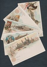 #EX15-24 SET #2 WORLD COLUMBIAN EXPO CARDS UNUSED XF+ CV $200 BS8117
