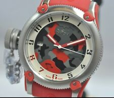 New Ladies Invicta 11532 Russian Diver Red Swiss Made Camouflage Dial Watch