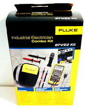FLUKE 87-V E2 87V/E2 INDUSTRIAL ELECTRICIAN COMBO KIT DIGITAL MULTIMETER NEW