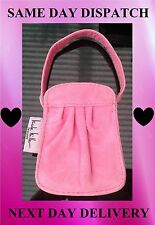 Designer Nicole Miller Small Pink Real Leather Open Top Handbag
