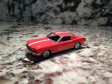 CASTLINE 1965 FORD MUSTANG DIE CAST CAR 1/64 SCALE 65 ORANGE WHITE STRIPE