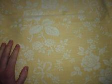 ancien tissu textile coupon toile matelas coutil jaune clair fleur 155x187 cm