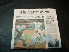 2013 World Series Newspaper Boston Red Sox vs St Louis Cardinals