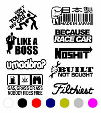 9 PACK JDM STICKER DECAL VINYL CAR LOT TUNER EURO FUNNY BOOST STANCE JDM