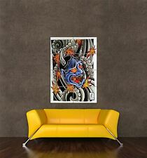 POSTER PRINT PAINTING CULTURAL ITEM JAPANESE DEMON DEVIL ONI TATTOO SEB751
