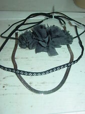 American Eagle Outfitters lot 3 headbands black silver gray flowers-NWT-$28.00