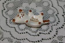 VINTAGE...CERAMIC....MINI CAT...GUM PARKER / HOLDER..... JAPAN